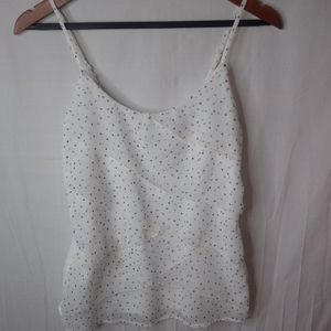 MAURICES White Gray Flowy Layered Top S
